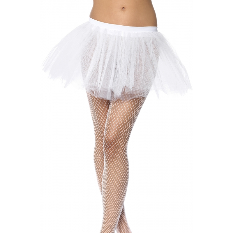 Wit onderrokje voor dames One size Wit