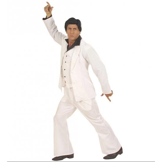 Wit Travolta kostuum voor heren L Wit