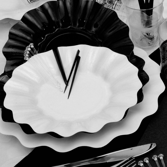 Witte diepe wegwerp bordjes 27 cm