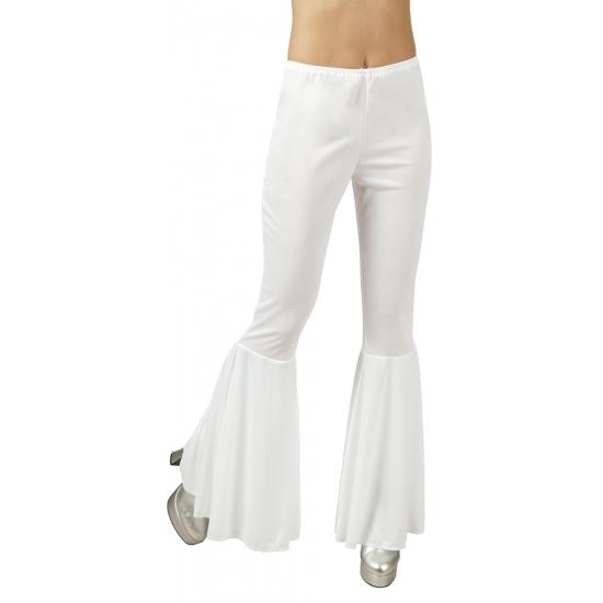 Witte disco broek voor dames M Multi