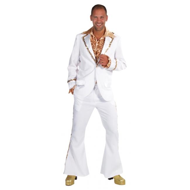 Witte disco kostuums heren 56-58 (L)