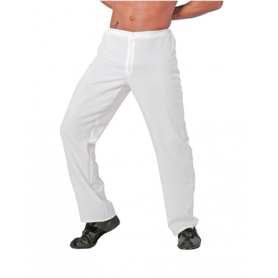 Witte disco verkleekleding broek 54 (XL) Wit