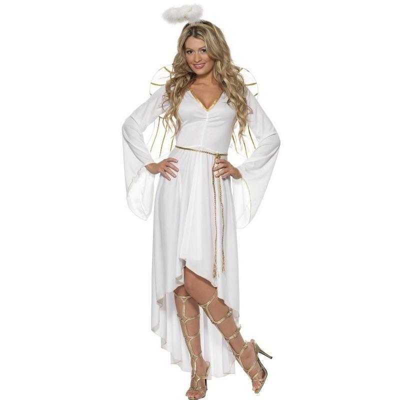 Witte engel verkleedkleding voor dames 36-38 (S) Wit