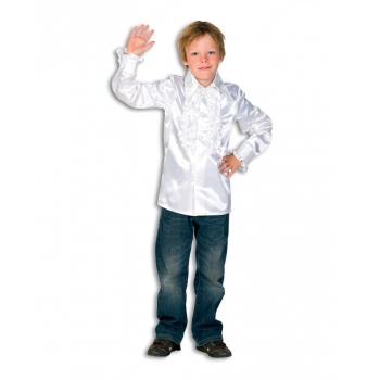 Witte hippie blouse voor jongens 116 Wit