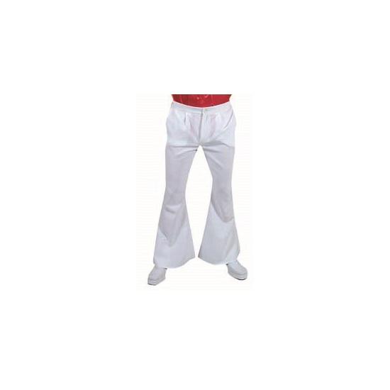 Witte hippie heren broeken 52-54 (M) Wit