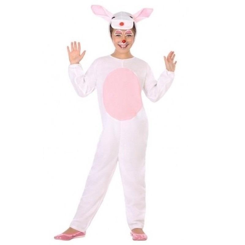 Witte konijn/haas verkleedkleding voor kinderen 116 (5-6 jaar) Multi