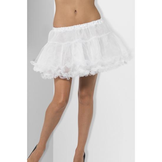 Witte petticoats met satijnen band One size Wit