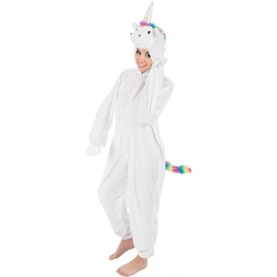 Witte/regenboog eenhoorn Rainy onesie/pak voor dames S/M Multi