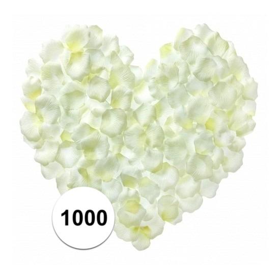 Witte rozenblaadjes 1000 stuks