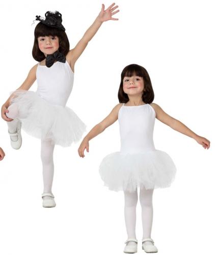 Witte tutu voor meisjes 116 (5-6 jaar) Wit