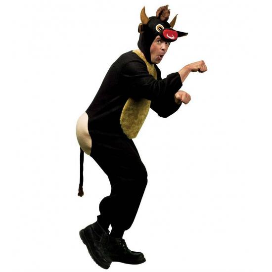 Woedende stier kostuum L Bruin