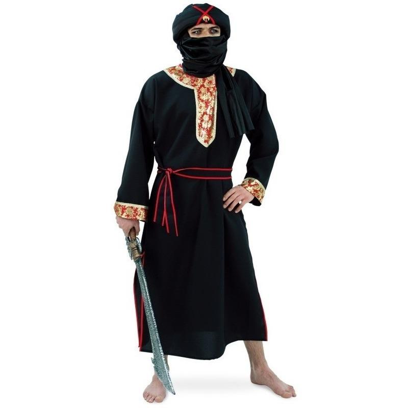 Woestijn strijder kostuum zwart 56-58 (2XL) Zwart