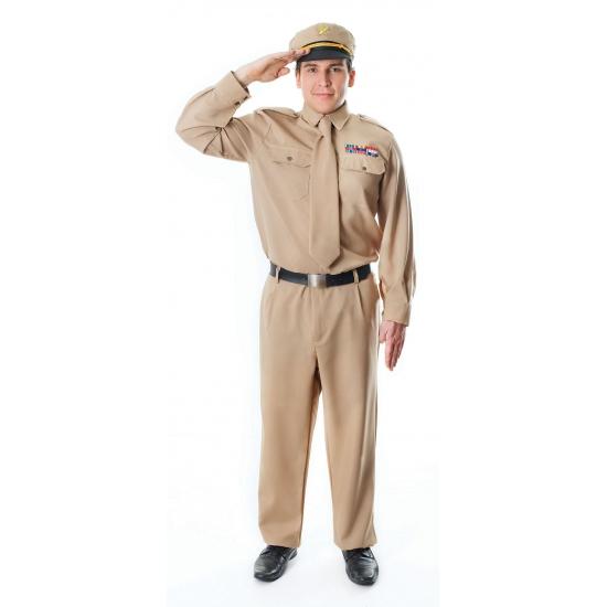 WOII generaals kostuum M/L Bruin
