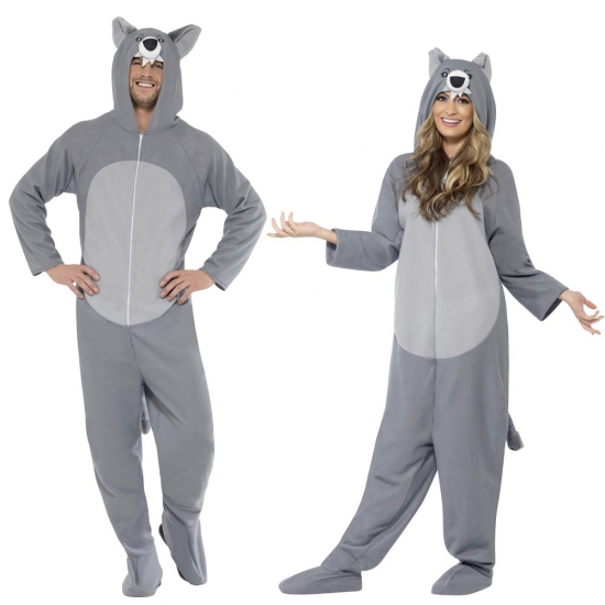 Wolf huispak grijs 40-50 (M) Grijs