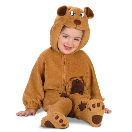 Zacht baby beren pakje One size Bruin