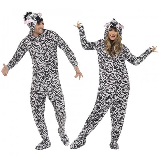 Zebra huispak voor volwassenen 42-52 (L) Multi