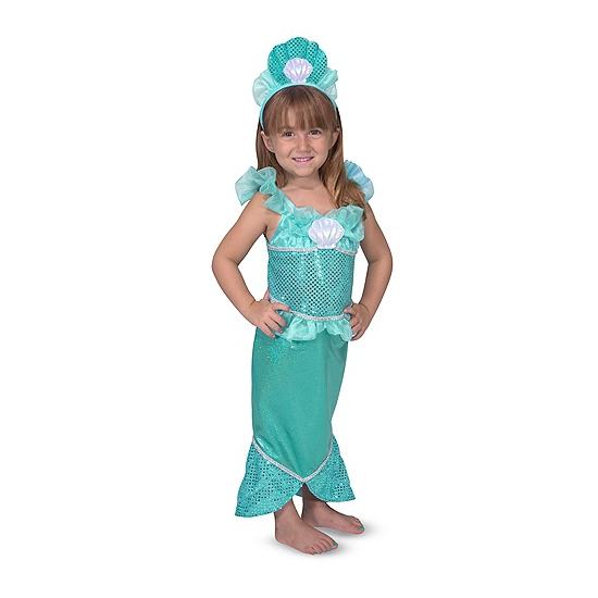 Zeemeerminnen verkleedset voor meisjes One size Multi
