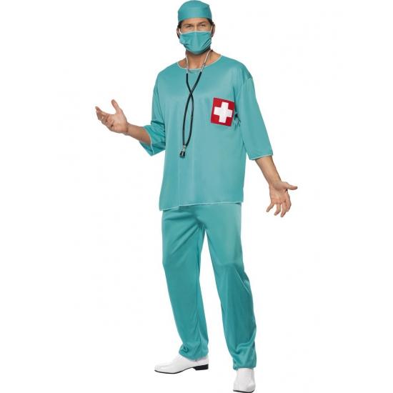 Ziekenhuis chirurg kostuum heren 52-54 (L) Groen