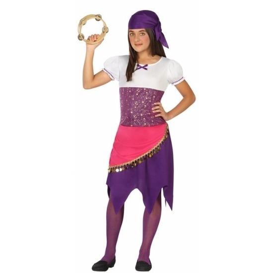 Zigeuner Esmeralda verkleedjurk voor meisjes 116 (5-6 jaar) Multi