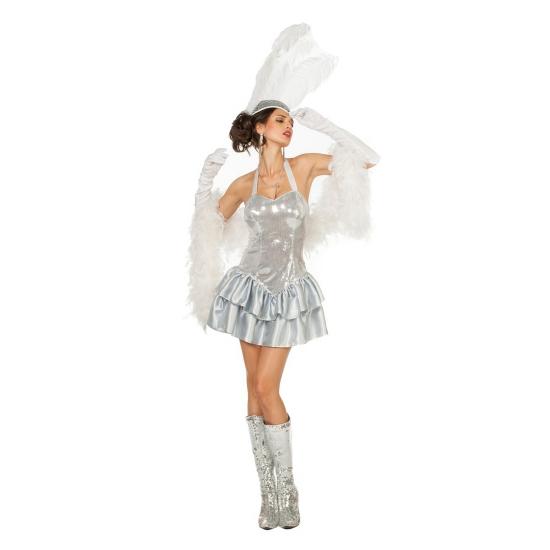 Zilver halter jurkje voor dames 34 (XS) Zilver