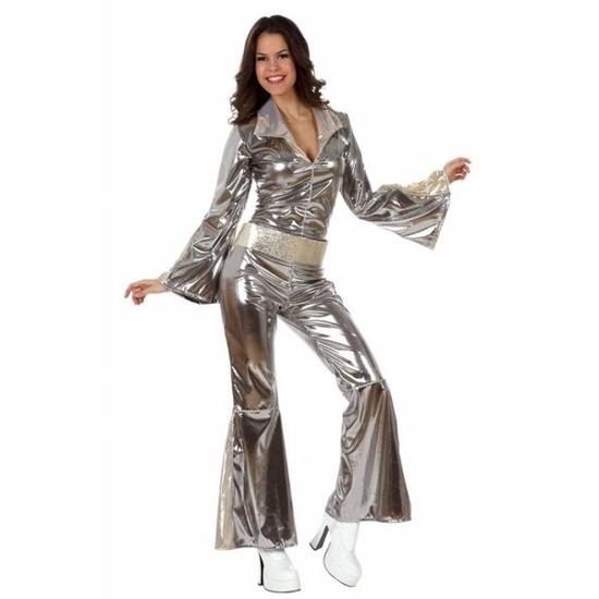 Zilveren disco jaren 70 verkleedkleding dames 38 (M) Zilver