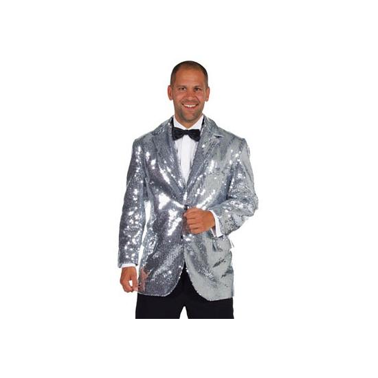 Zilveren heren jas deluxe 56-58 (L) Zilver