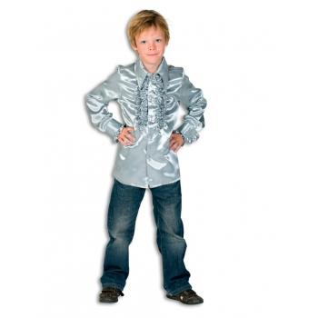 Zilveren hippie blouse jongens 152 Zilver
