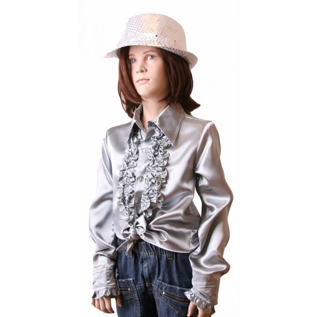 Zilveren hippie blouse meisjes Zilver
