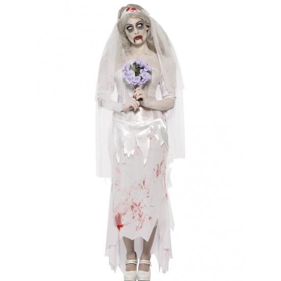 Zombie bruid kostuum 40-42 (M) Multi