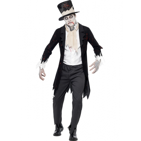 Zombie bruidegom kostuum 48-50 (M) Multi