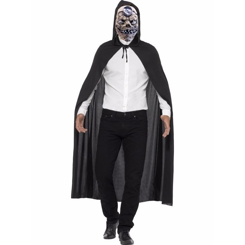 Zombie dokter verkleedkleding cape met masker One size -
