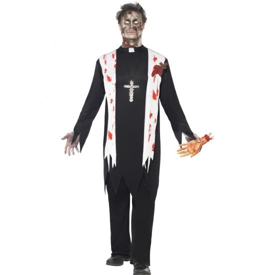 Zombiepak priester kostuum 48-50 (M) Zwart