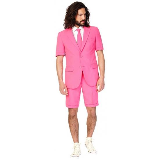 Zomerkostuum roze voor heren 46 (S) Roze