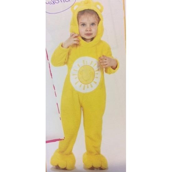 Zonnebeer kostuum voor meisjes One size Geel