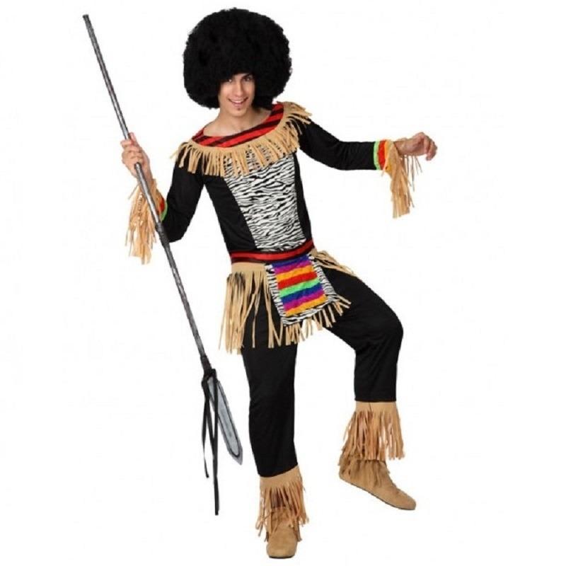 Zulu outfits voor heren 50 (M) Zwart