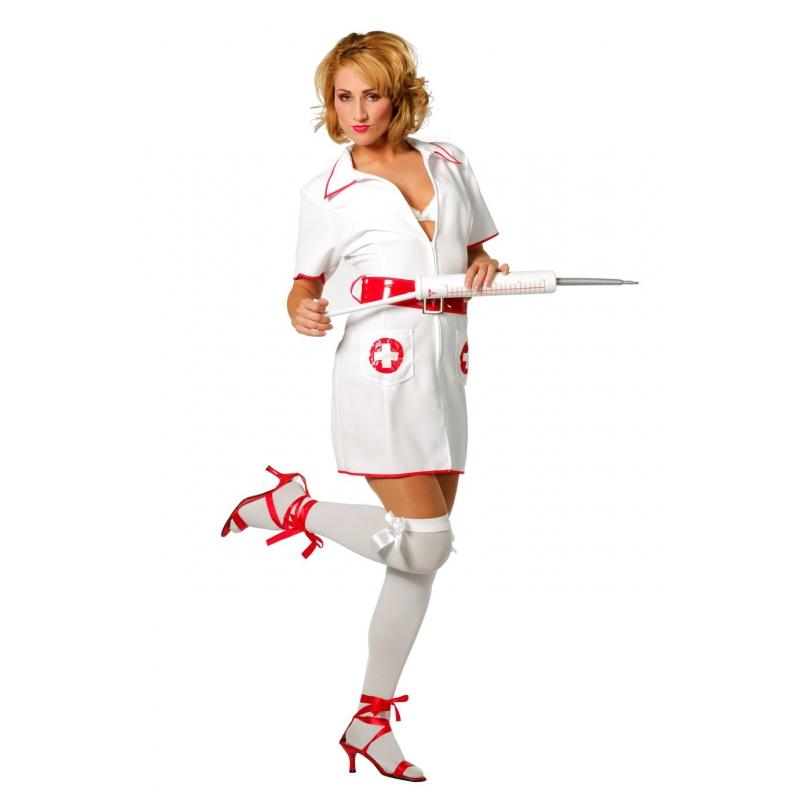 Zuster kostuum voor dames 42 (XL) Wit
