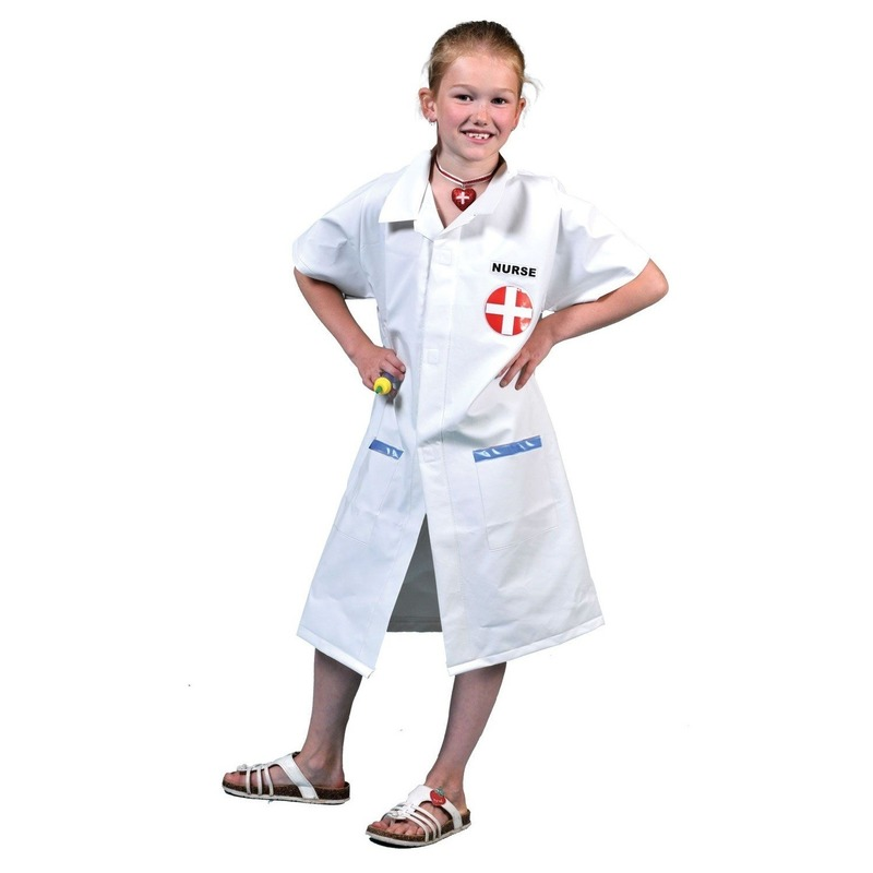 Zuster kostuum voor kinderen One size Wit