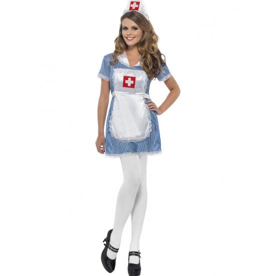 Zusters jurkje blauw/wit verkleed kostuum/outfit voor dames 48-50 (XL) Multi
