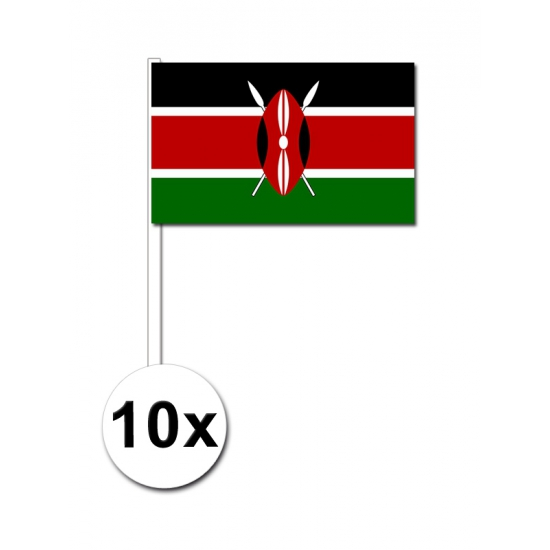 Zwaaivlaggetjes Kenia 10 stuks Multi