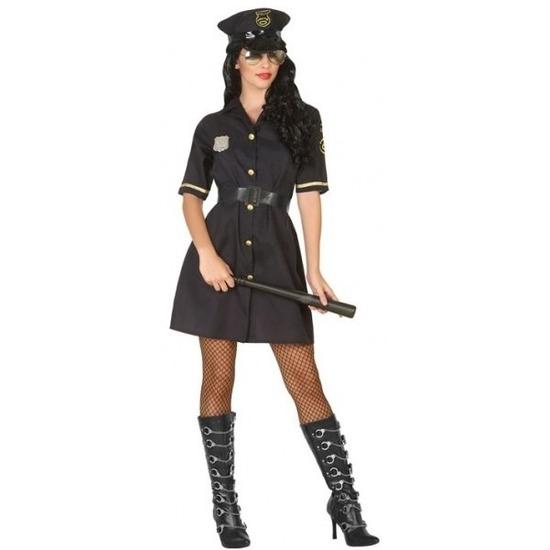 Zwart politie jurkje voor dames XS/S (34-36) Zwart