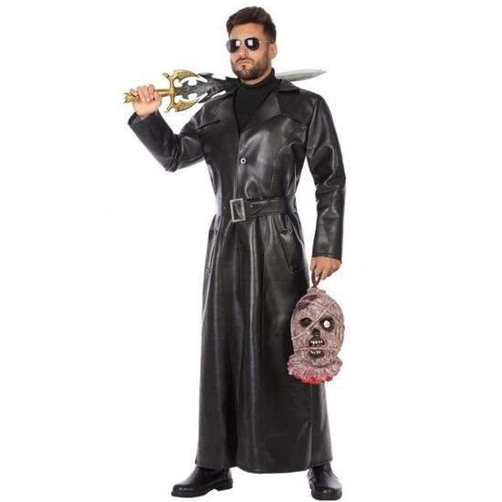Zwart vampier jager jas voor heren 50 (M) Zwart