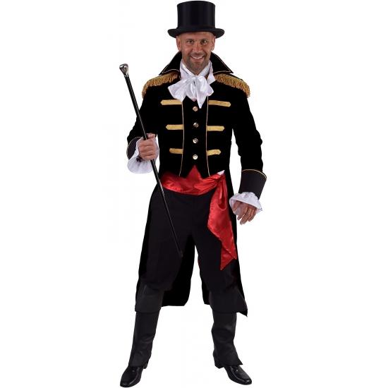 Zwarte baron verkleed jas voor heren 60-62 (XL) Zwart