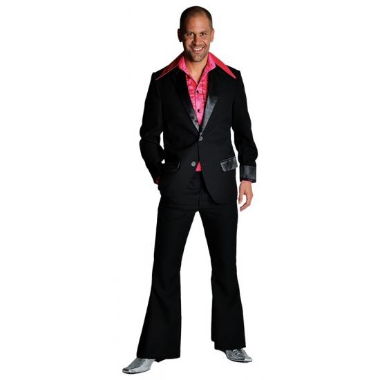 Zwarte colbert en broek voor heren 52-54 (M) Zwart