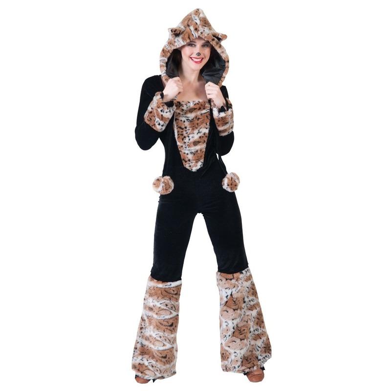 Zwarte kat/panter verkleed kostuum voor dames 36-38 (S/M) Multi
