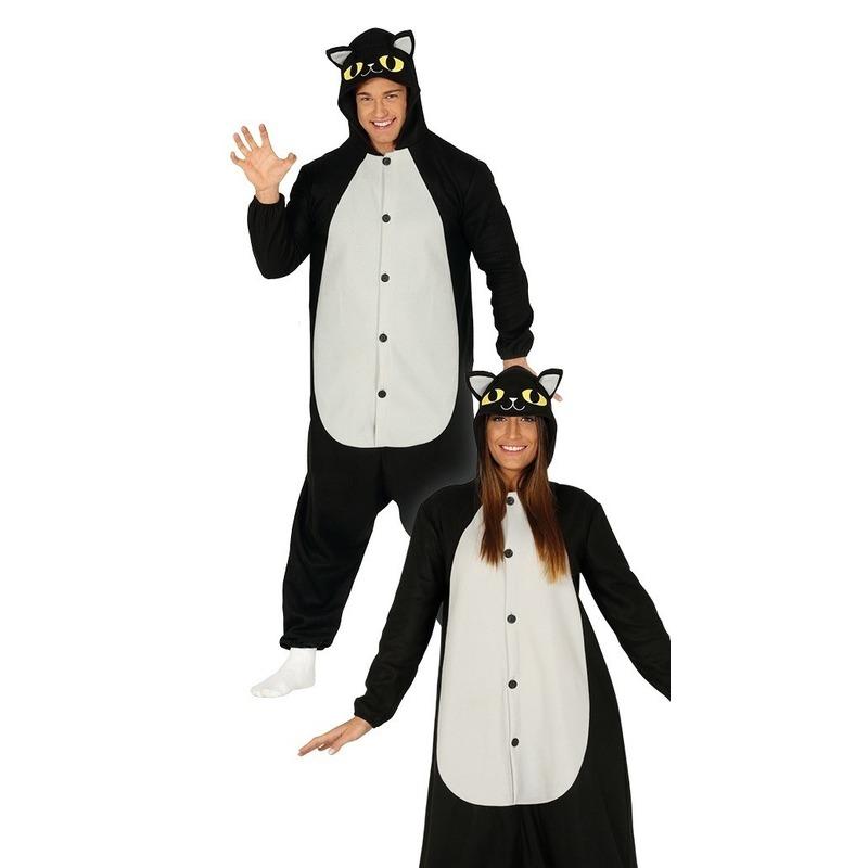 Zwarte kat/poes verkleed kostuum voor dames One size Zwart