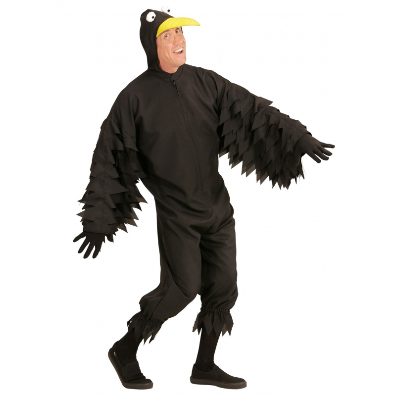 Zwarte kraaienpakken voor volwassenen XL Zwart