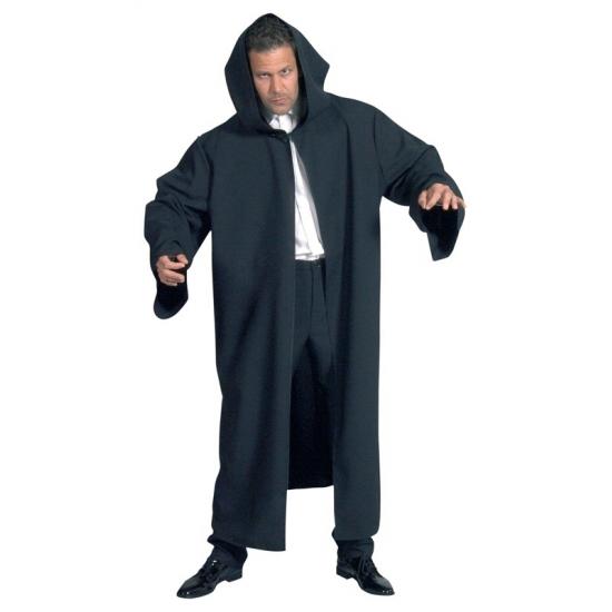 Zwarte luxe mantel voor volwassenen One size Zwart