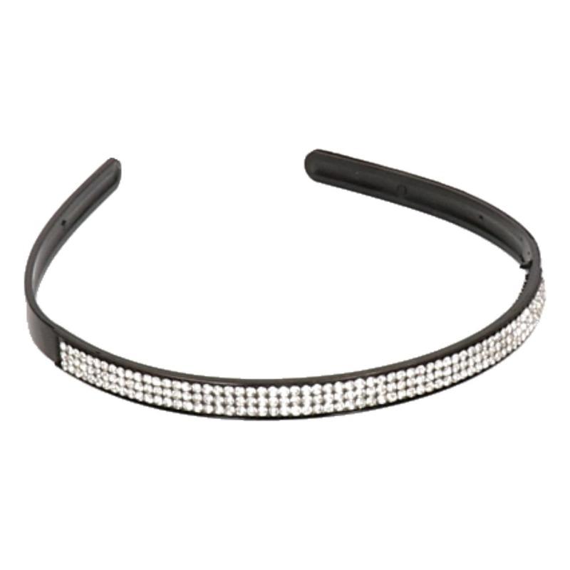 Zwarte met zilver strass diadeem Multi