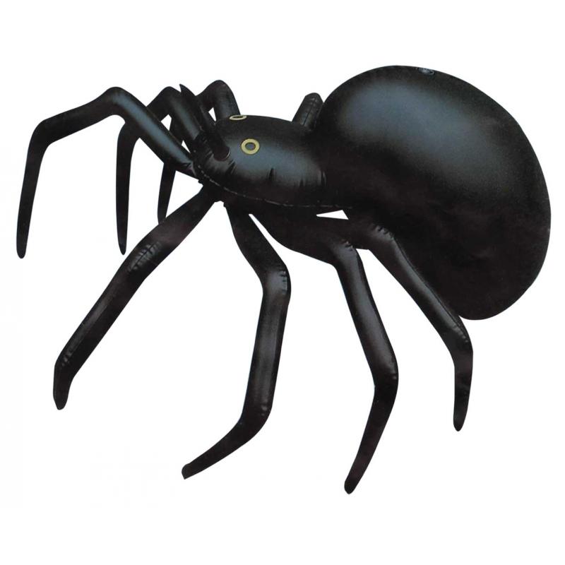 Zwarte opblaas spin 91 cm Multi