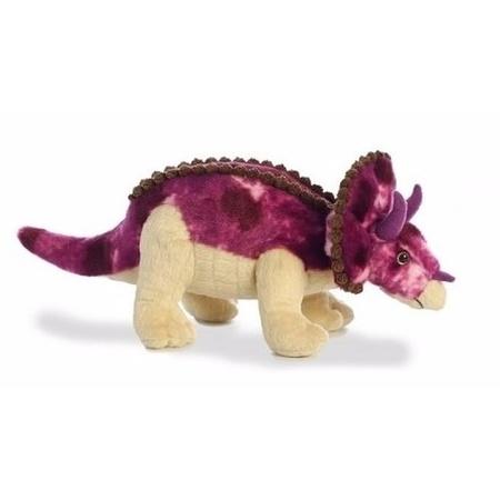 Triceratops Paarse Dino Knuffel 33 Cm Fun En Feest